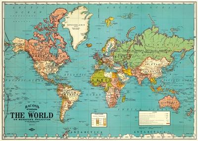 World Map Decorative Paper Spanish Edition