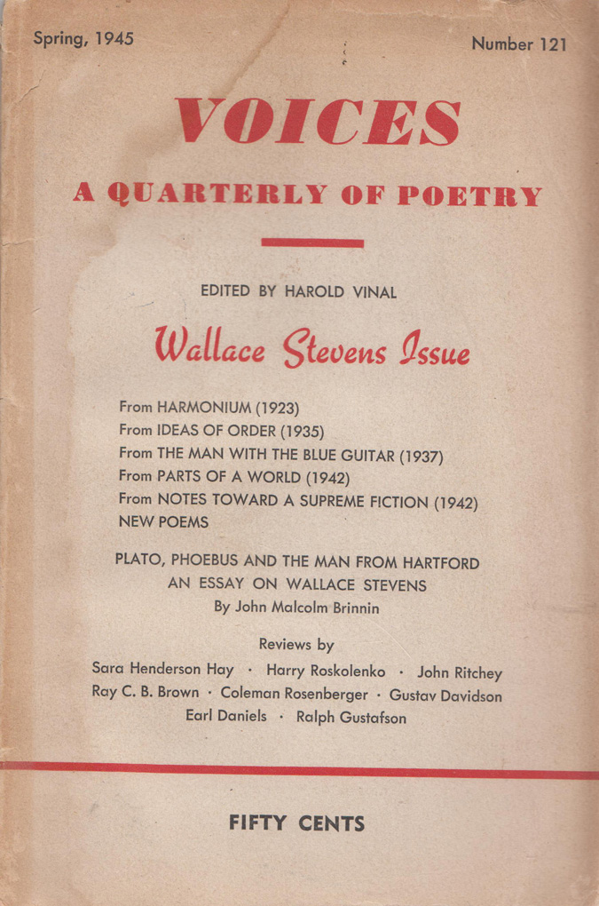 Image for Wallace Stevens Issue - Voices A Quarterly of Poetry - Number 121