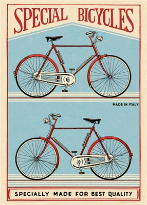 Image for Cavallini & Co. Special Bicycles Poster Wrapping Paper Sheet