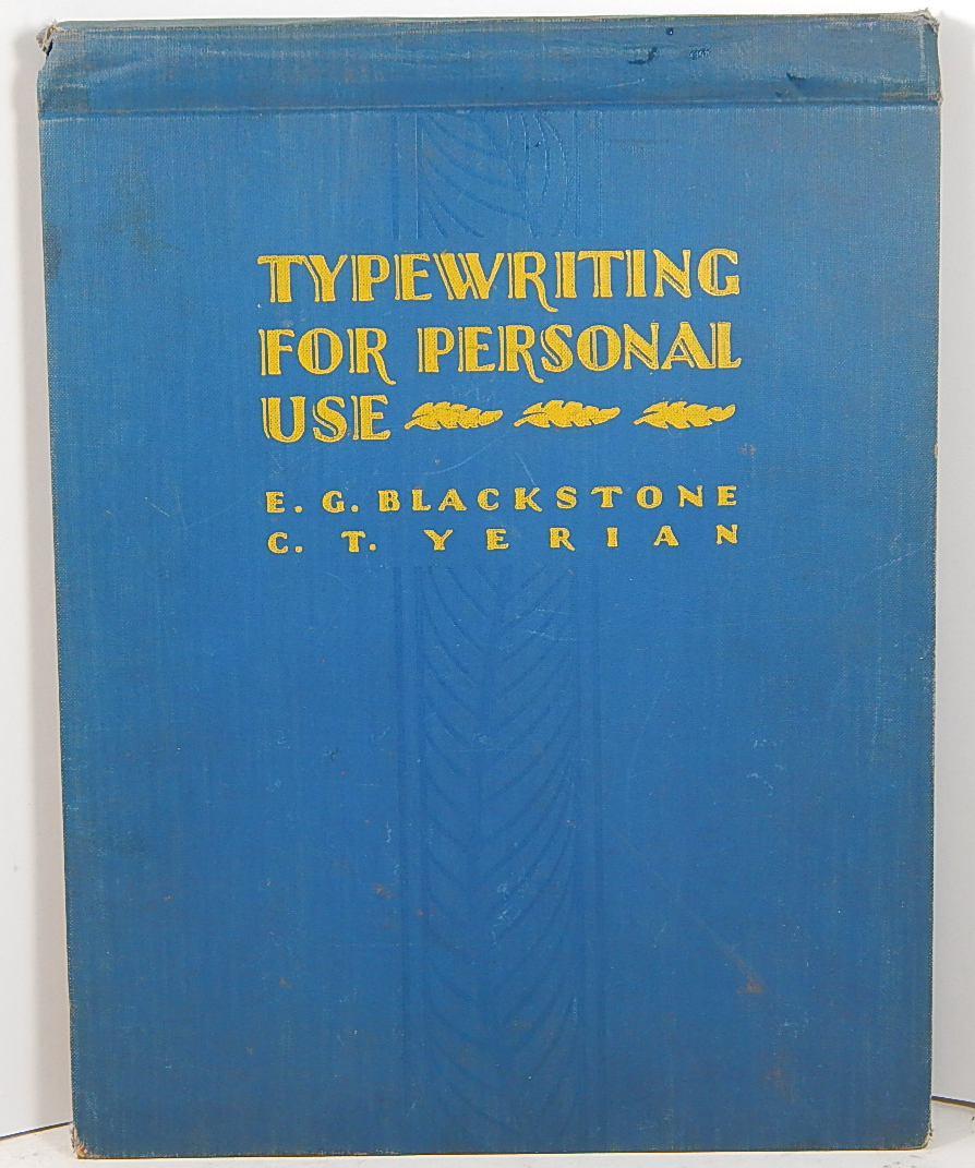 Image for Typewriting for personal use