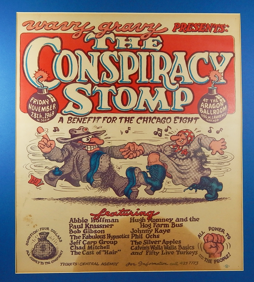 Image for R. Crumb Wavy Gravy Conspiracy Stomp Chicago Eight Benefit Concert Poster