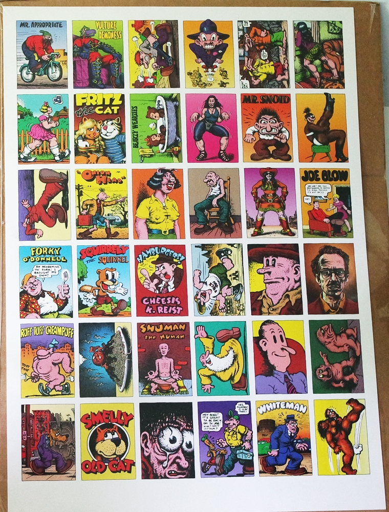 Image for R. Crumb 36 Panel Poster Zap Comix Fritz Etc
