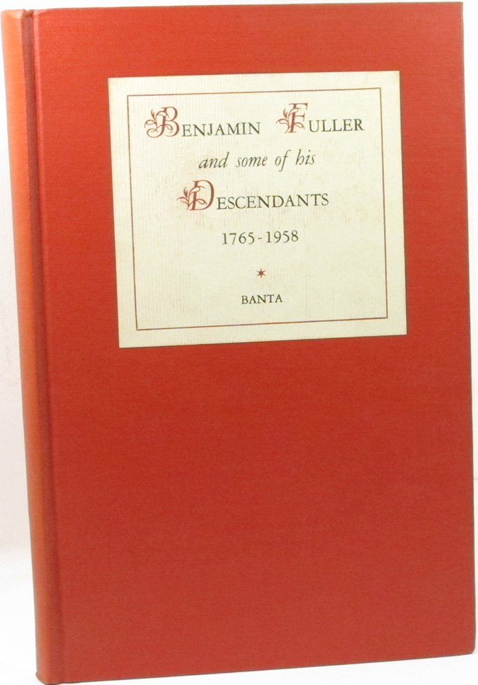 Image for Benjamin Fuller and some of his descendants,: 1765-1958