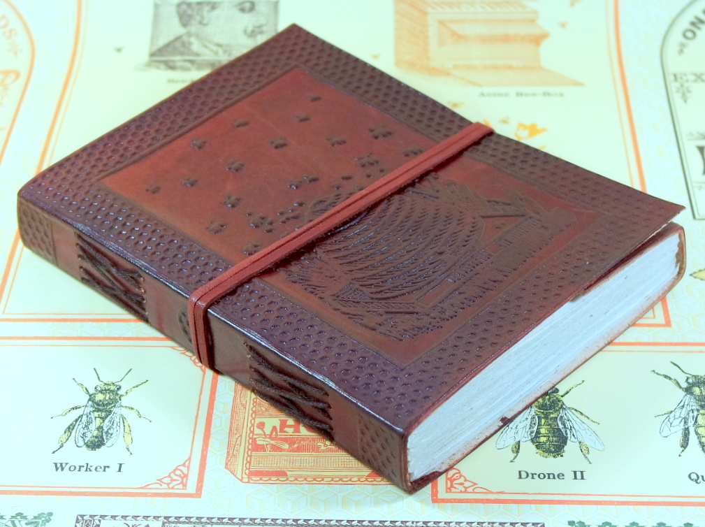 Barner Books Leather Honey Bee Journal