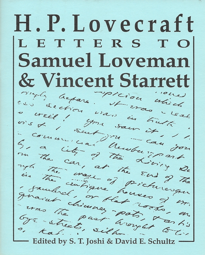 Image for Letters to Samuel Loveman & Vincent Starrett