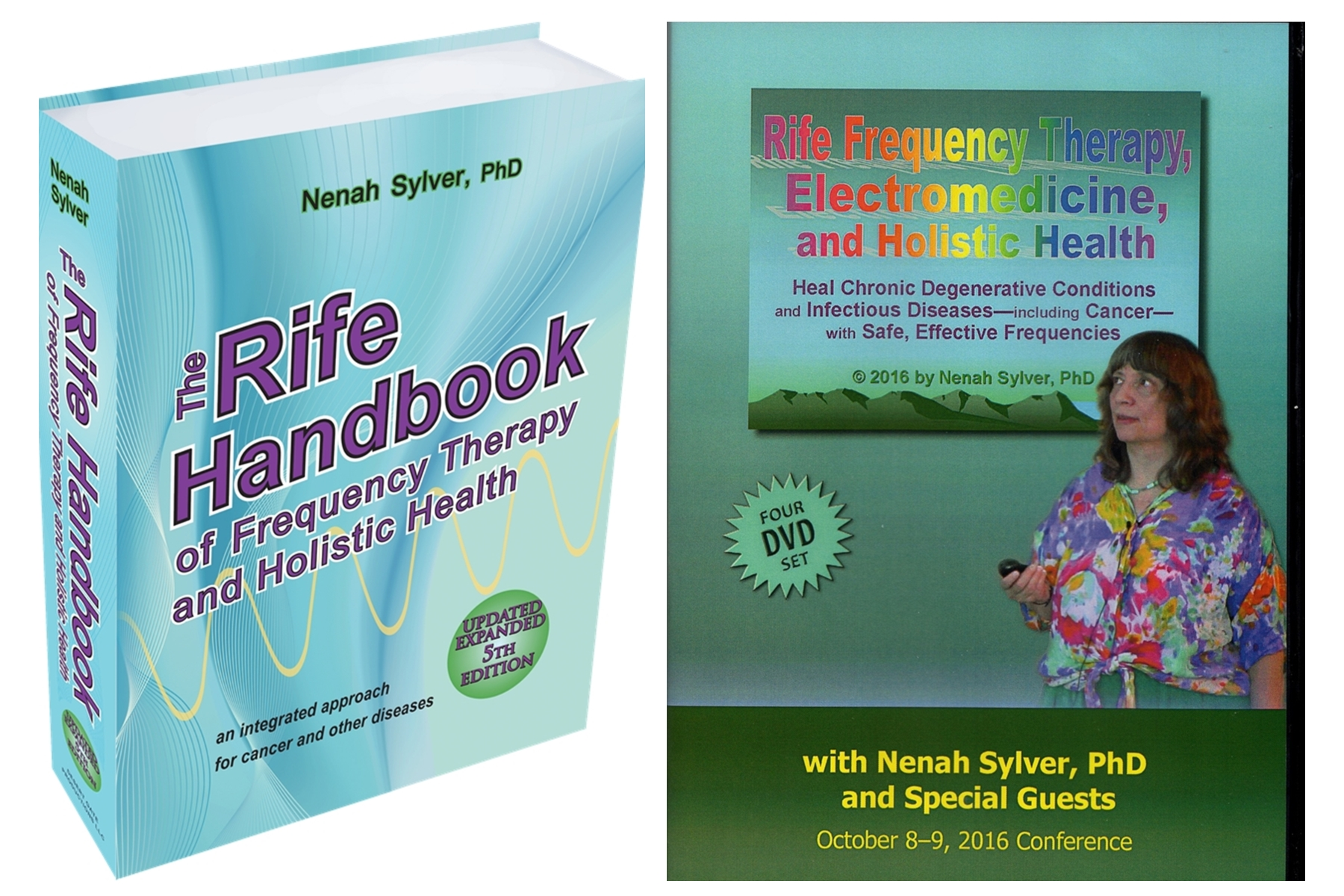 Image for Rife Frequency Healing Book 5th Edition  AND The Rife Therapy Course, a 4-DVD Set - 2 Pack Bundle Special Sale