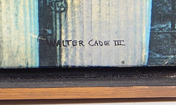 Image for Walter Cade III Signed Original Collage